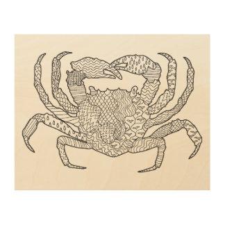 Zendoodle Crab 5 Wood Wall Decor