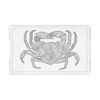 Zendoodle Crab Acrylic Tray