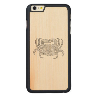 Zendoodle Crab Carved® Maple iPhone 6 Plus Case