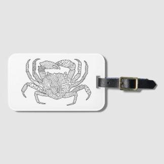 Zendoodle Crab Luggage Tag