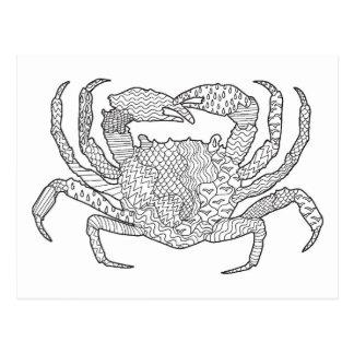 Zendoodle Crab Postcard