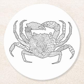 Zendoodle Crab Round Paper Coaster