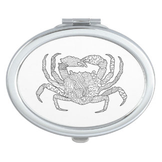 Zendoodle Crab Travel Mirrors