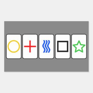 Zener Cards Sticker - Grey