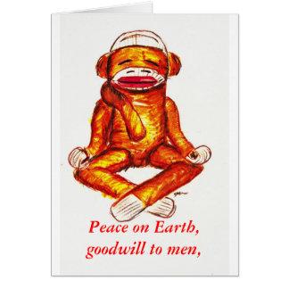 zenmonkey holiday greeting greeting card