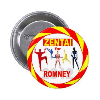 Zentai voters for Romney 2012 6 Cm Round Badge