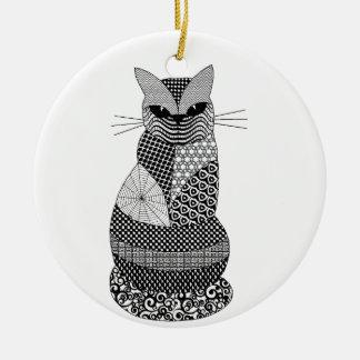 Zentangle Cat Ornaments