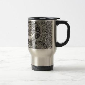 Zentangle  Cheshire Cat Design Mugs