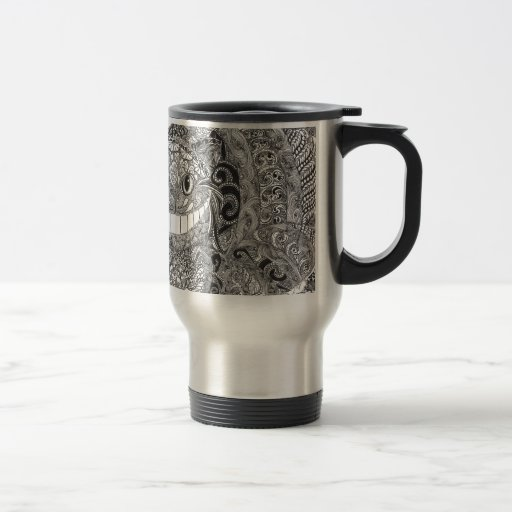 Zentangle  Cheshire Cat Design Mugs