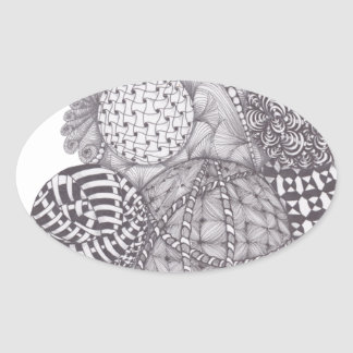 Zentangle design Yarn Balls Sticker