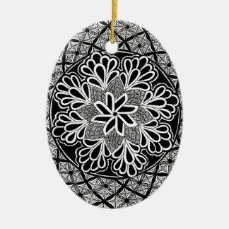 zentangle fashion ornament