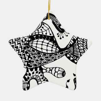 Zentangle Fish Christmas Ornaments
