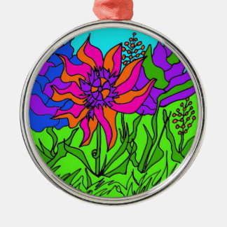 Zentangle Flowers and Worms Christmas Ornaments