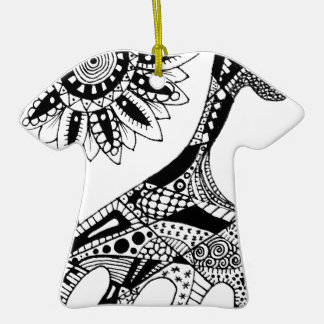 Zentangle giraffe ornament