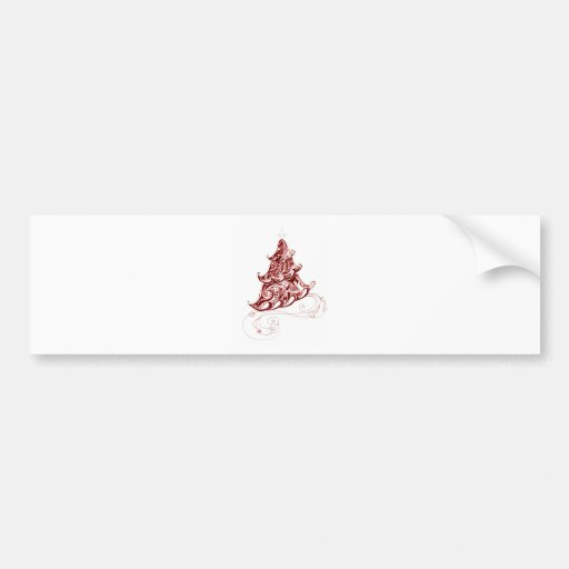 Zentangle Holiday Tree Bumper Sticker