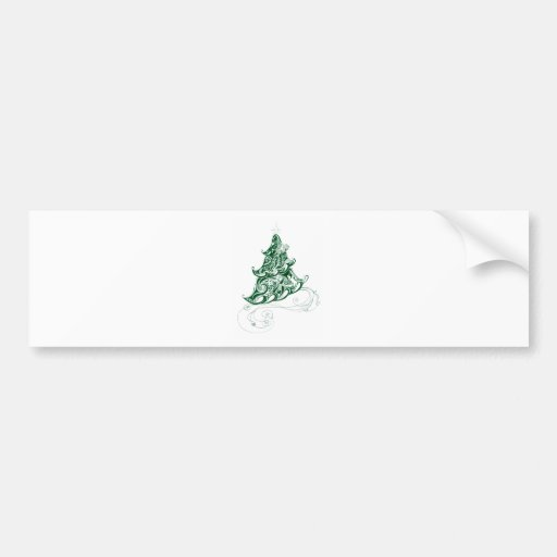 Zentangle Holiday Tree Bumper Stickers