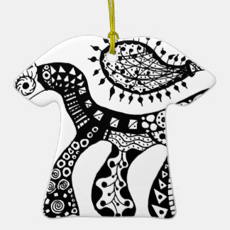 Zentangle Horse Ornament