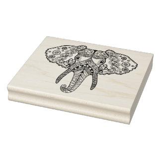 Zentangle Inspired Elephant 2 Rubber Stamp
