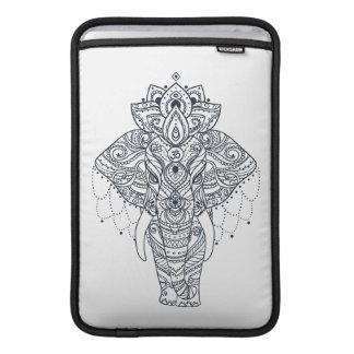 Zentangle Inspired Elephant MacBook Sleeve