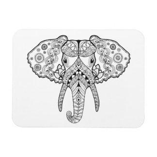 Zentangle Inspired Elephant Magnet