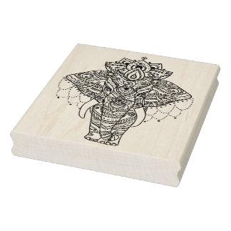 Zentangle Inspired Elephant Rubber Stamp