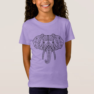 Zentangle Inspired Elephant T-Shirt