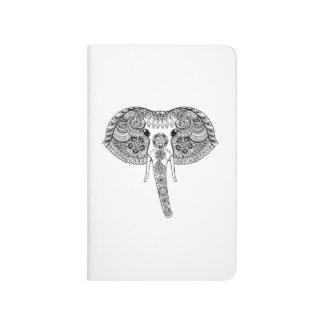 Zentangle Inspired Indian Elephant Journal