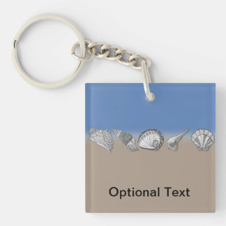 Zentangle-Inspired Seashell Drawing Art Acrylic Key Chain