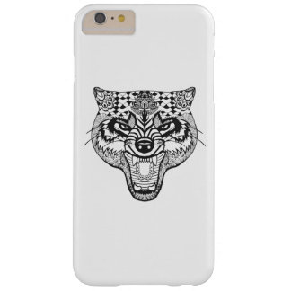 Zentangle Inspired Wolf Barely There iPhone 6 Plus Case