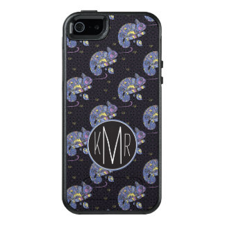 Zentangle Lizard | Monogram OtterBox iPhone 5/5s/SE Case
