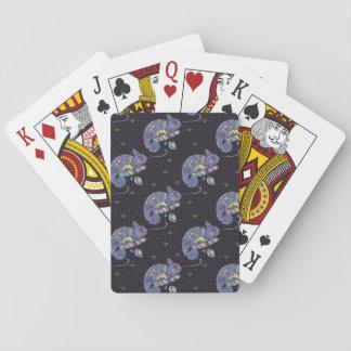 Zentangle Lizard Poker Deck