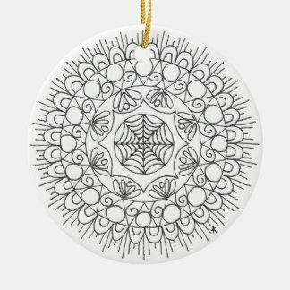 zentangle mandala - web christmas ornament