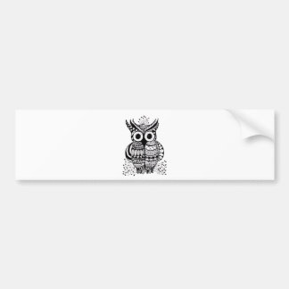 Zentangle Owl Bumper Stickers