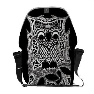 Zentangle Owl Courier Bags
