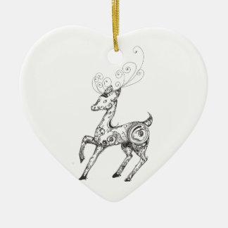 Zentangle Reindeer Ornament