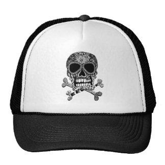 Zentangle Skull and Crossbones Trucker Hat