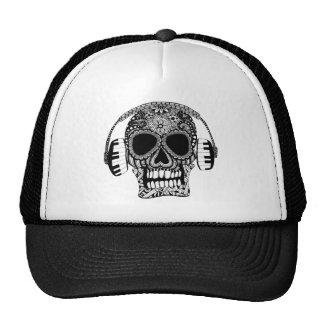 Zentangle Skull with Headphones Trucker Hat