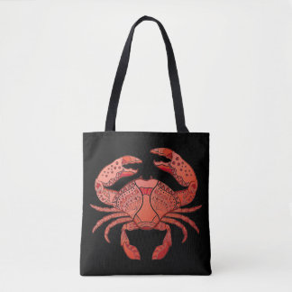 Zentangle Style Crab Tote Bag