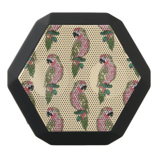 Zentangle Style Parrots Black Bluetooth Speaker