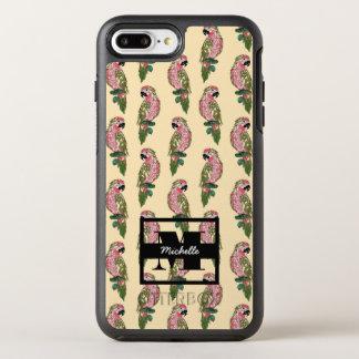 Zentangle Style Parrots | Monogram OtterBox Symmetry iPhone 8 Plus/7 Plus Case