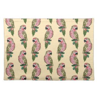 Zentangle Style Parrots Placemat