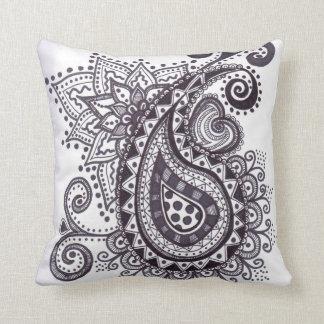 zentangled paisley cushion