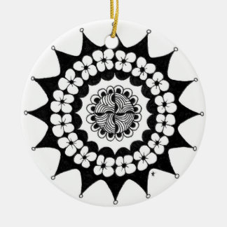 zentnagle mandala - flower crown christmas ornaments