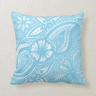 zentnagled doodle in baby blue cushion