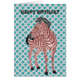 Zenya Blue  Birthday Card