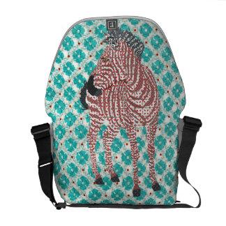 Zenya Blue Messenger Bag