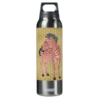 Zenya Gold Stars Liberty Bottle 16 Oz Insulated SIGG Thermos Water Bottle