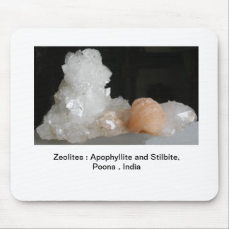 Zeolites : Apophyllite and Stilbite Mouse Pad