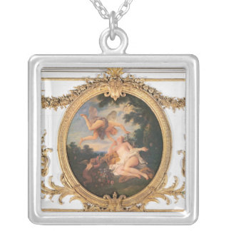 Zephyr and Flora, from the Salle de Conseil Silver Plated Necklace