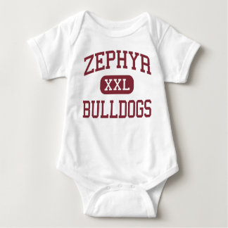 Zephyr - Bulldogs - High School - Zephyr Texas Baby Bodysuit